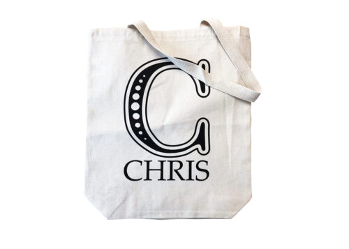 Canvas Tote Letter Bags