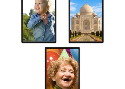 3 6x4 portrait framed magnets