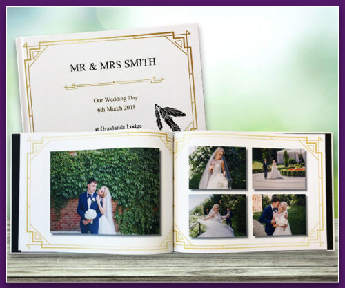 1920's Wedding Theme A4 Landscape Standard