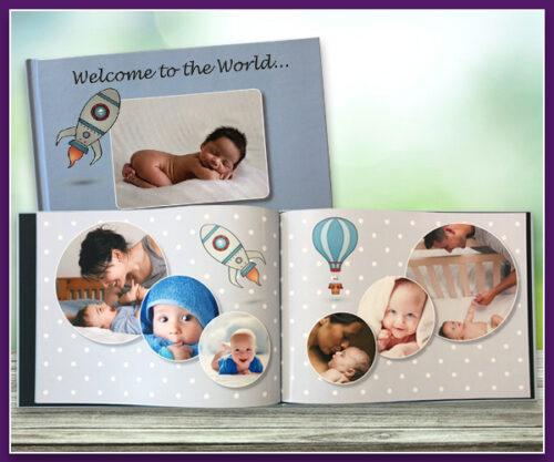 Baby Boy Theme A4 Landscape Standard